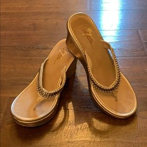 Very Volatile wedge sandals gold